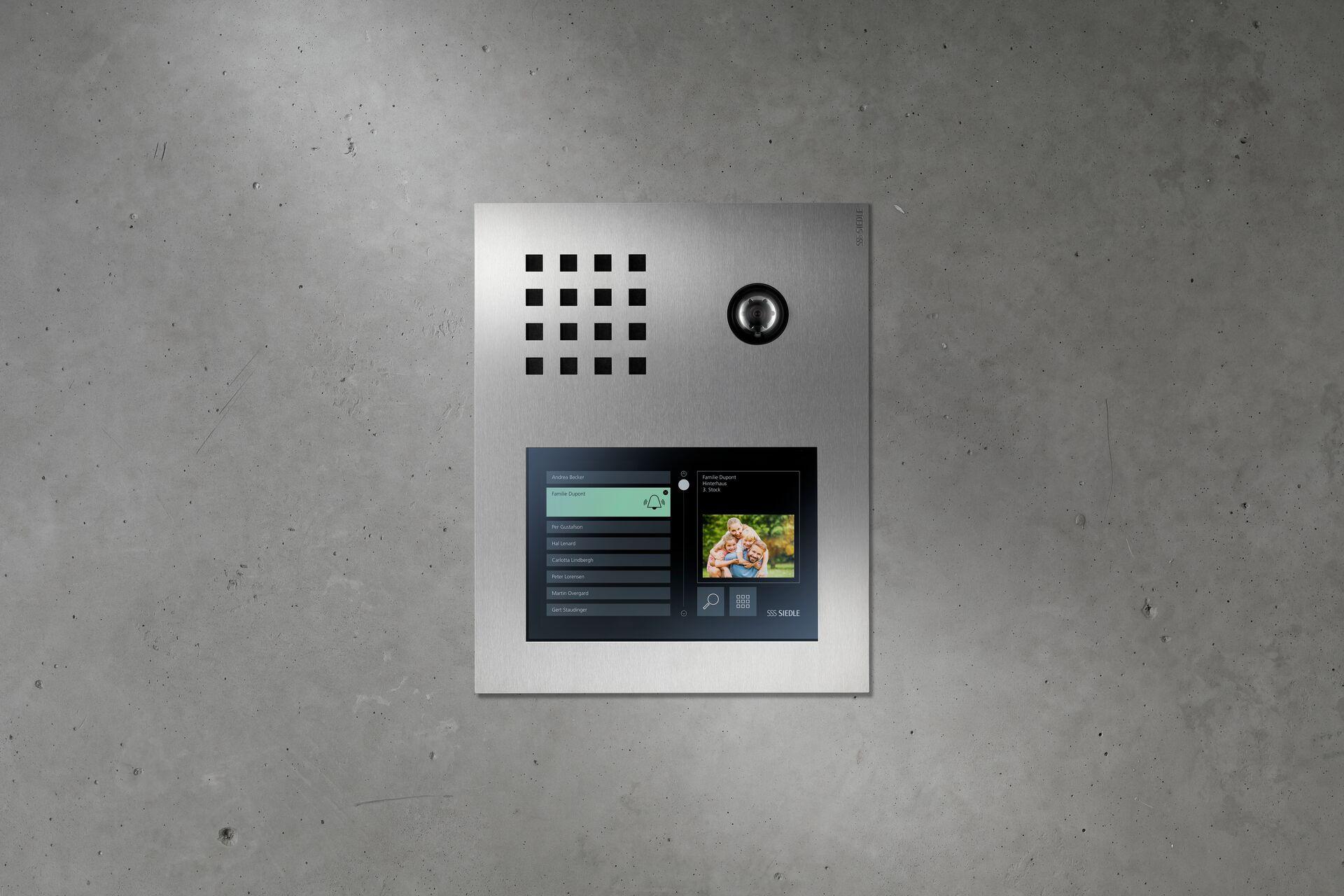 Siedle Sprechanlage mit Display und Kamera